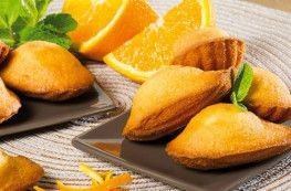 Madeleines parfumées à l'orange