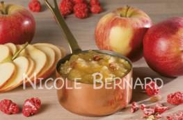 Compote de pommes praline saveur crumble