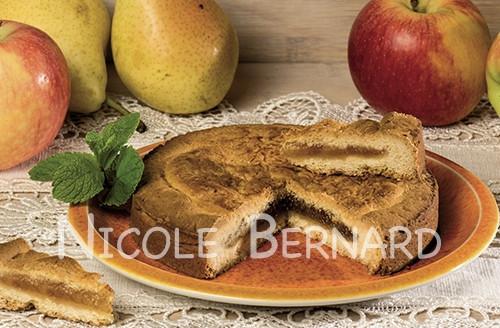Gâteau fourré aux pommes et poires de Savoie