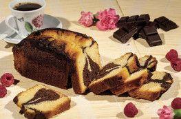 Cake Marbré au Chocolat et au Rhum
