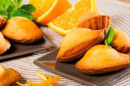 Lot de 2 sachets de madeleines aromatisées à l'orange